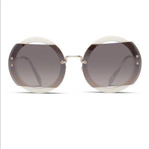 MiuMiu round cut sunglasses